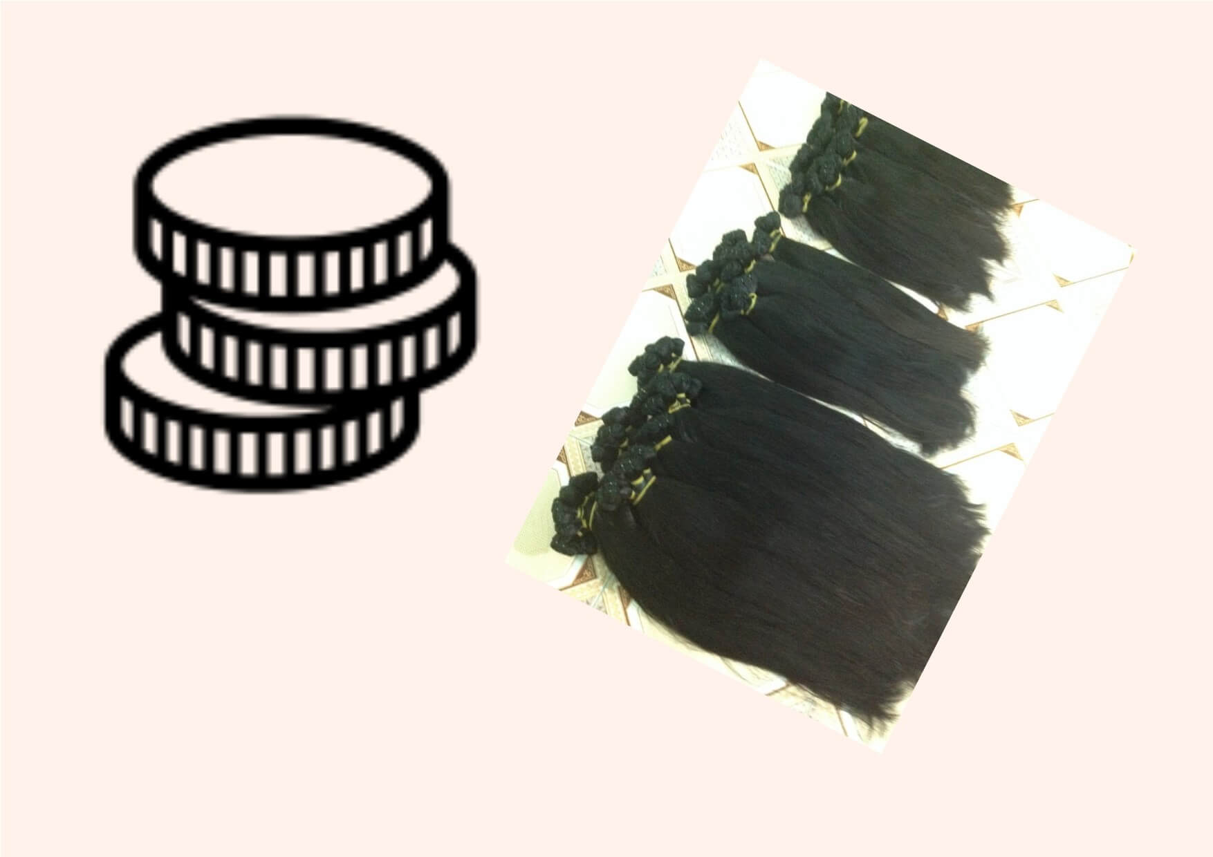 Pay What You Can Afford for Support and Sell Hair Extensions