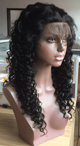 NewLand Hair Full Lace Wig with curly wave