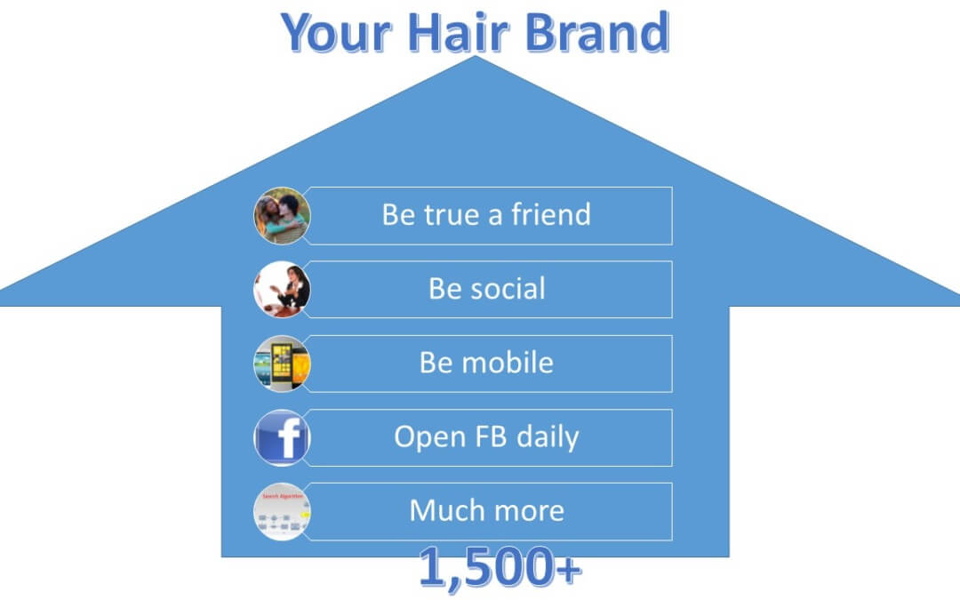 Rank high with your hair extensions on Facebook