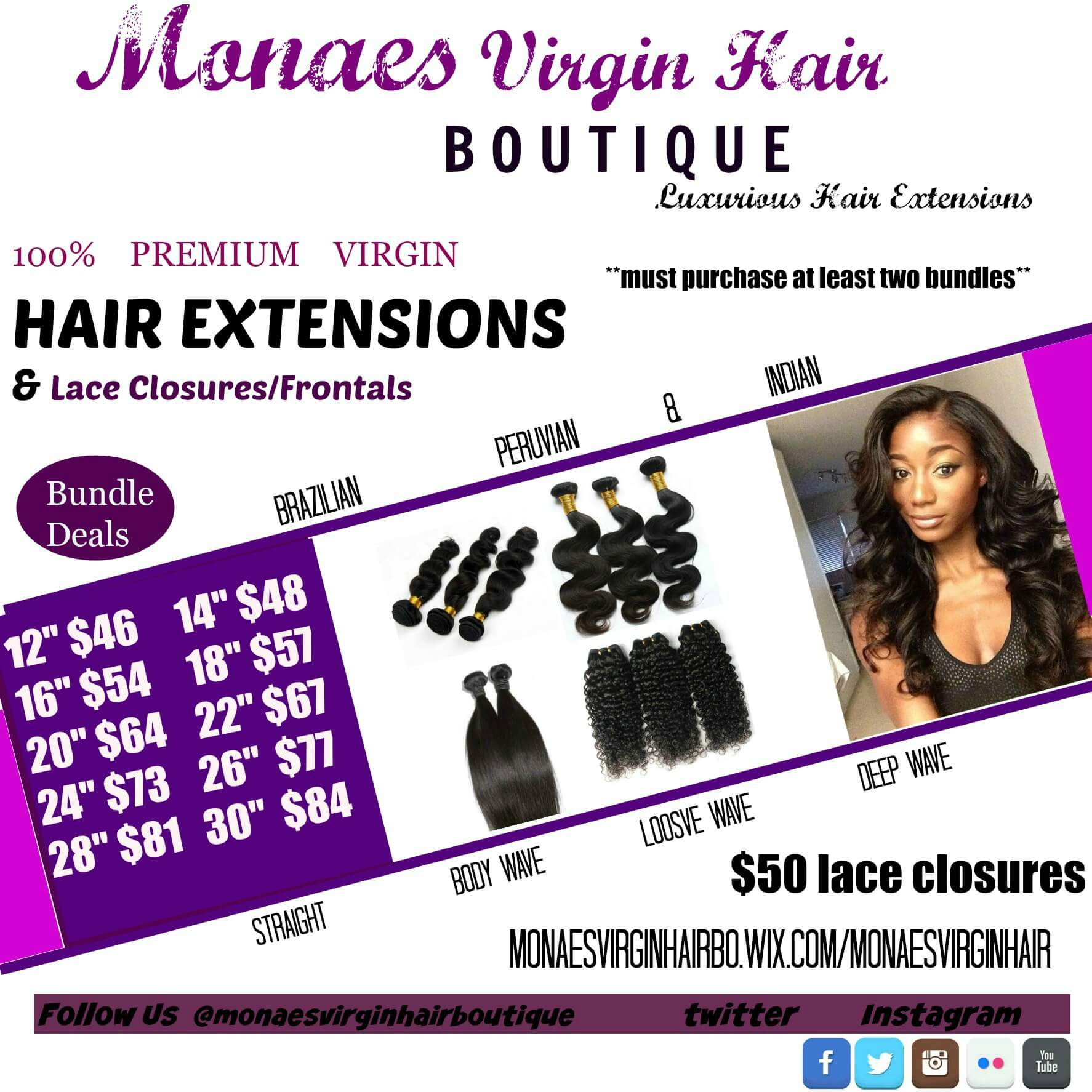 Luxurious Bundles Llc Hair Extensions Store
